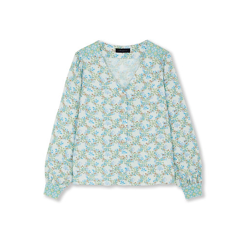 Jessica Russell Flint Button Down Blouse Daisy Chains