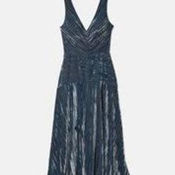 Vince Rutched V-Neck Dress
