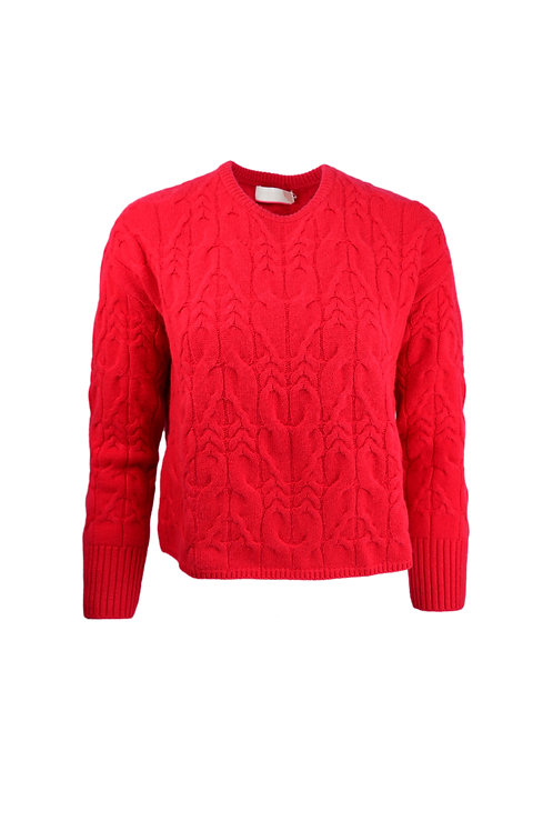 Cocoa Cashmere Red Cable