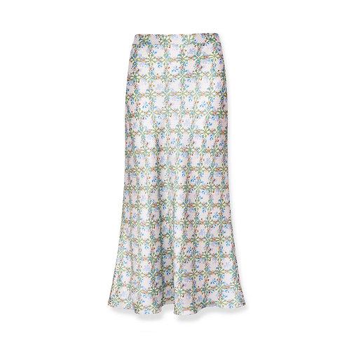 Jessica Russell Flint Bias Cut Skirt Daisy Chains