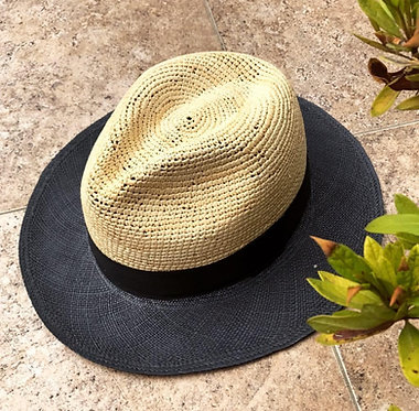 RONNEL straw hats - Fedora BICOLORES