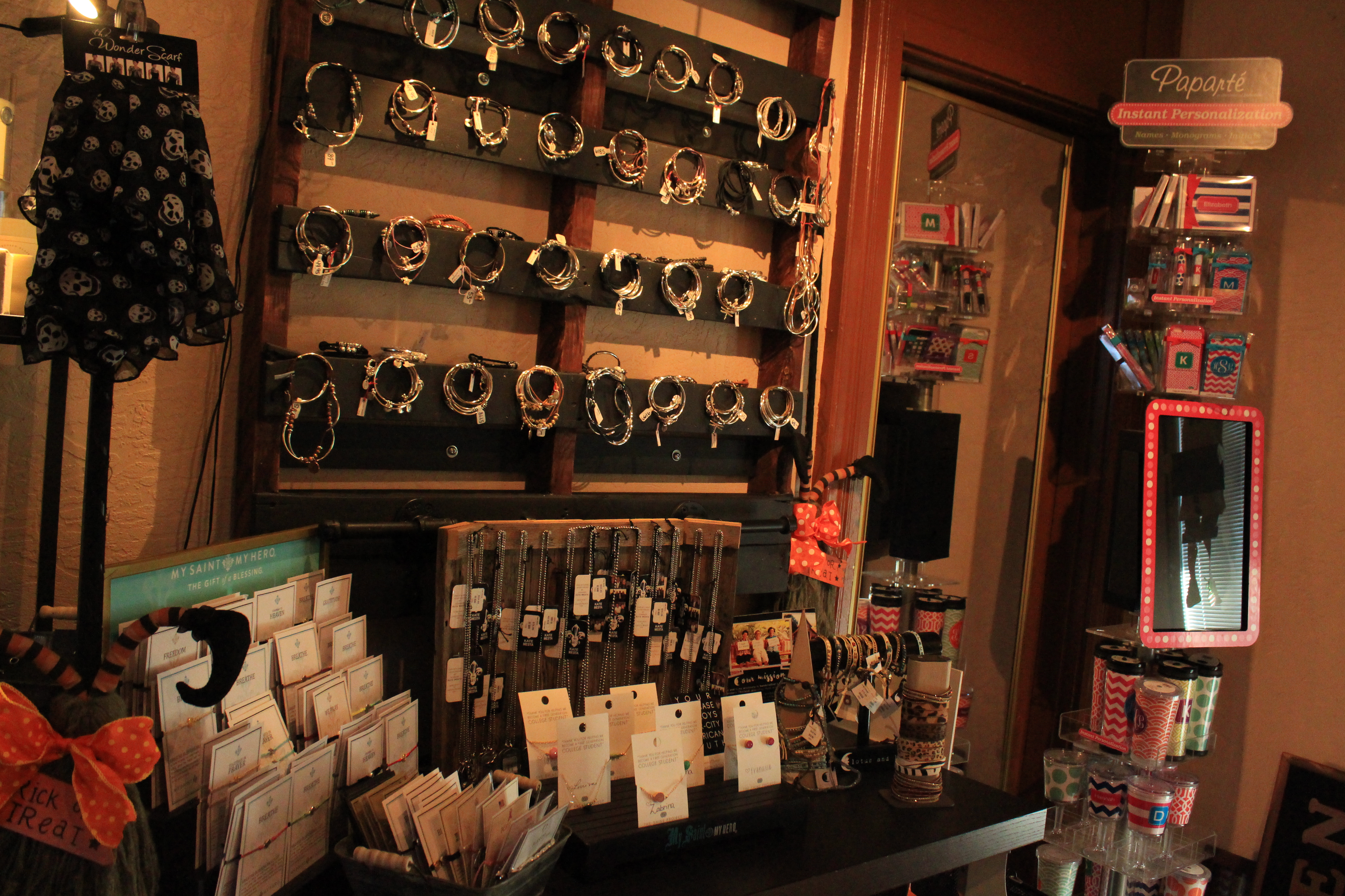 A display at Buckets Boutique