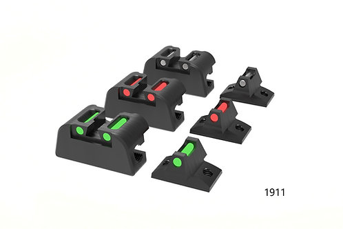 Fibre Optic Sight Set for Walther PPQ and Colt 1911 LBP's