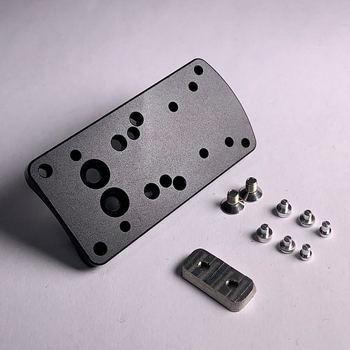 Universal Red-Dot Mounting Plate and rear sight for Pistols