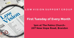 Low Vision Support Group