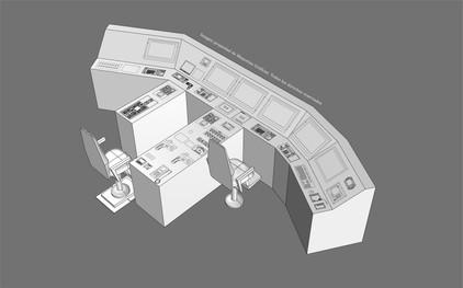Modelo 3D Consola de Control