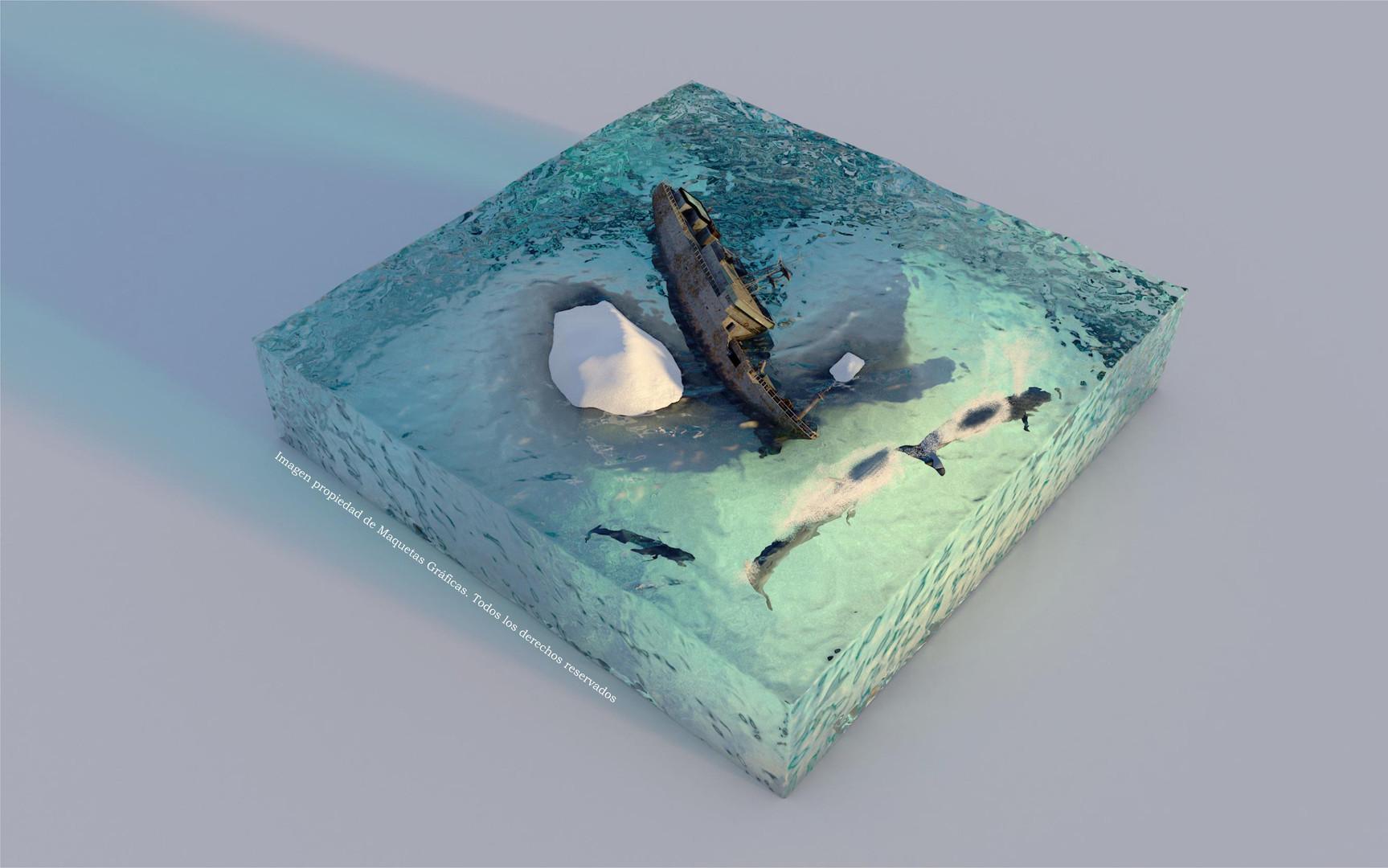 Fotorealismo buque barado