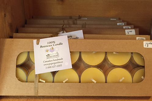 Beeswax tealights - Box of 12
