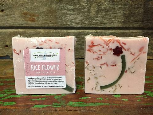 Rice Flower Goat Milk Soap