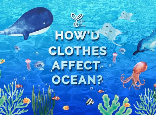เสื้อผ้าส่งผลกระทบต่อมหาสมุทรได้อย่างไร?