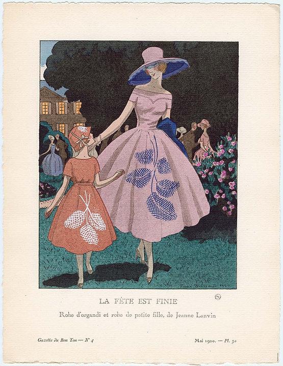 06af34610f Like Mother Like Daughter  Jeanne Lanvin and Gazette du Bon Ton from ...