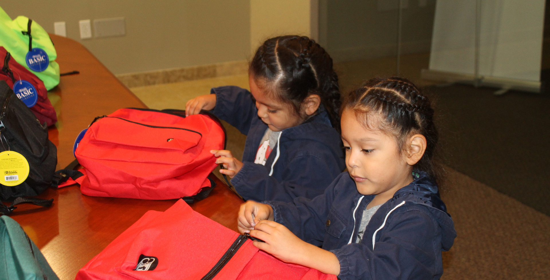 School Backpack Giveaway Participants