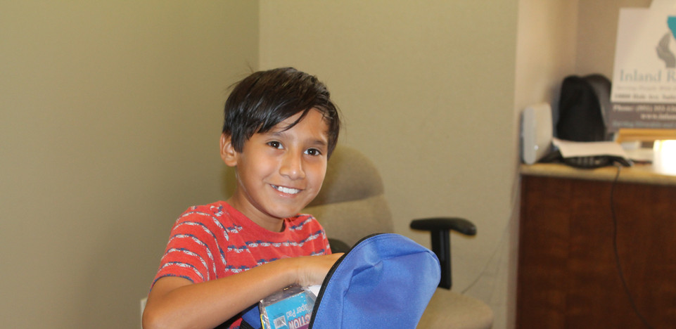School Backpack Giveaway Participant