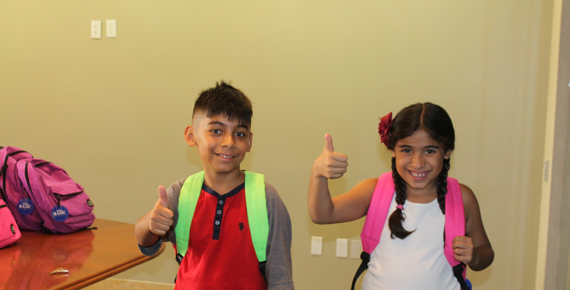 School Backpack Giveaway Participants