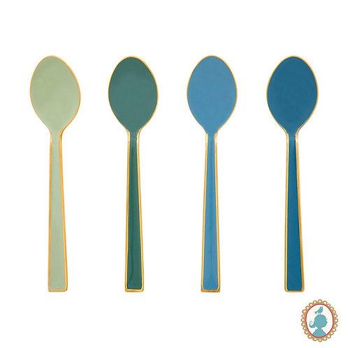 Set/4 Colheres Esmaltadas Verde/Azul - Spring to Life - Pip Studio