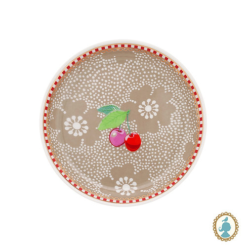 Mini Prato Dotted Flower Cáqui