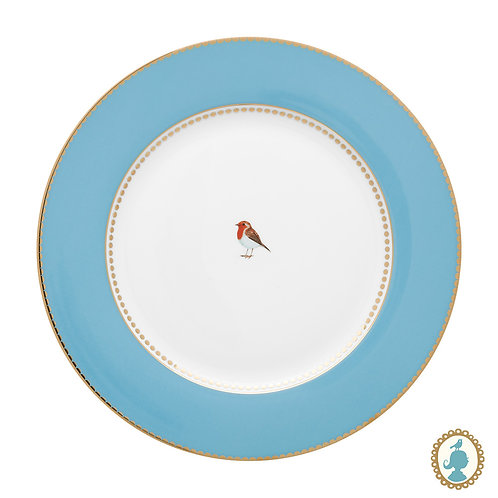 Prato de Jantar Azul - Love Birds - Pip Studio