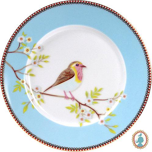 Prato de Sobremesa Early Bird Azul – Floral – PiP Studio®