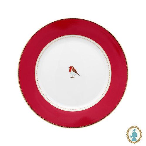Prato de Sobremesa Vermelho - Love Birds - Pip Studio