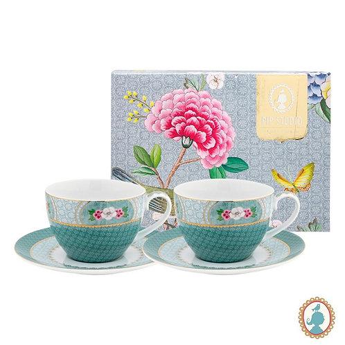 Set/2 Xícara de Chá Azul - Blushing Birds - Pip Studio