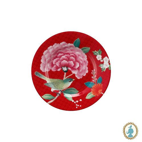 Prato petit four vermelho - Blushing Birds - Pip Studio