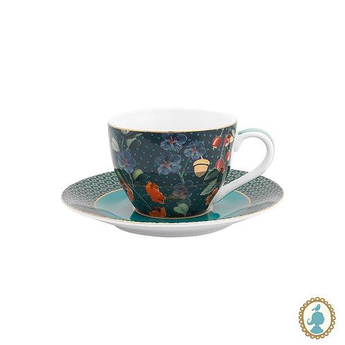 Xícara de Cafezinho Overall Azul - Winter Wonderland - Pip Studio