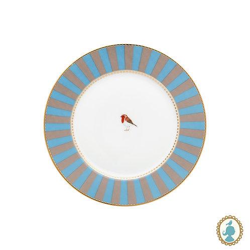 Prato de Pão Azul Stripes - Love Birds - Pip Studio