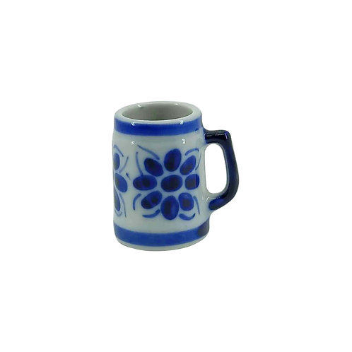 Mini Caneca de Porcelana Azul Colonial