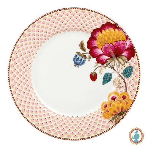 Prato de Jantar Branco Fantasy – Floral Fantasy – PiP Studio®