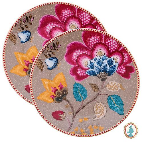 Set/2 Pratos de Pão Caqui – Floral Fantasy – PiP Studio®