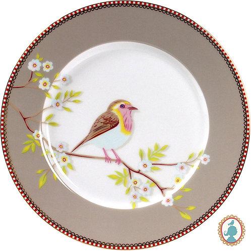 Prato de Sobremesa Early Bird Cáqui – Floral – PiP Studio®
