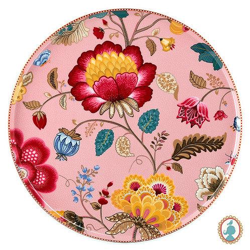 Prato p/ Bolo Rosa – Floral Fantasy – PiP Studio®