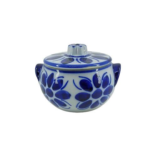 Cumbuca de Porcelana Azul Colonial com Tampa