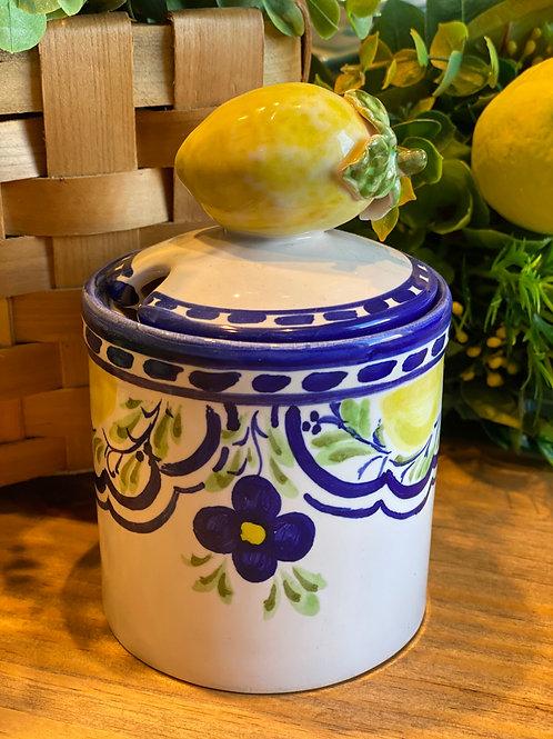 Pote de geléia limão siciliano