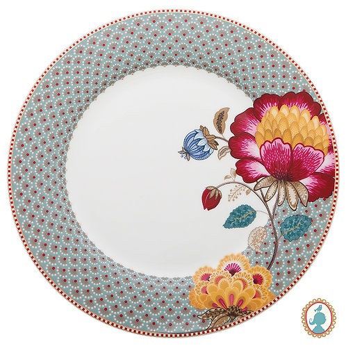Prato de Jantar Azul – Floral Fantasy – PiP Studio®