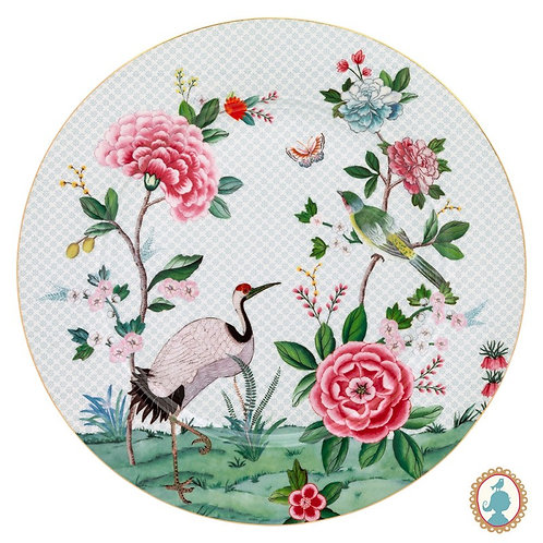Prato Sousplat Branco - Blushing Birds - Pip Studio