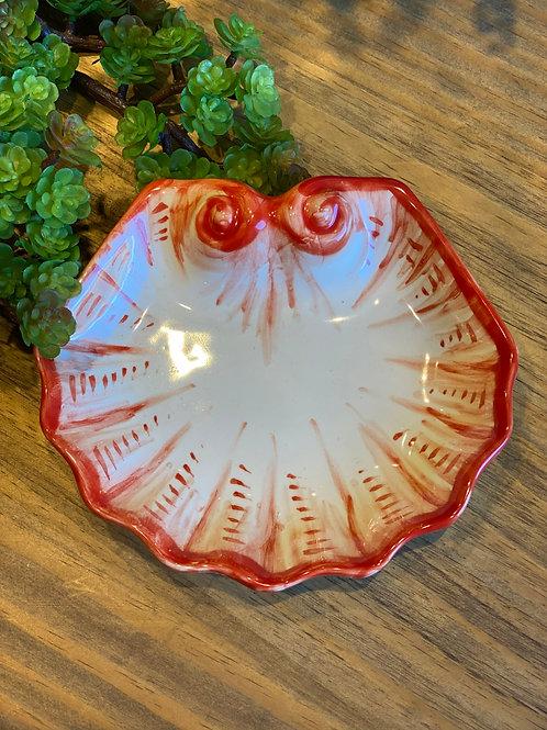 Prato de pão Shell coral