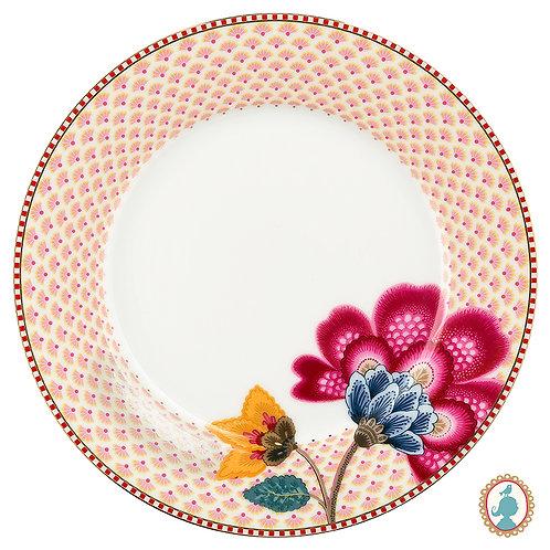 Prato de Sobremesa Branco – Floral Fantasy – PiP Studio®
