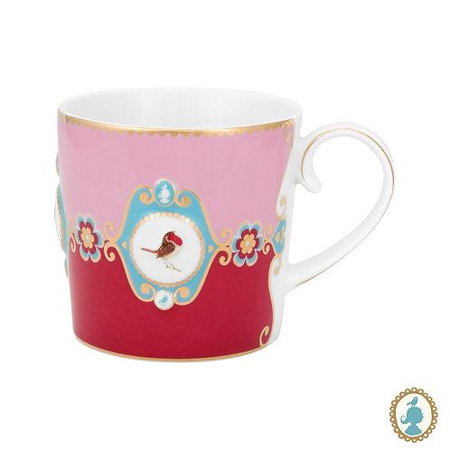 Caneca Grande Medallion Rosa/Vermelho - Love Birds - Pip Studio