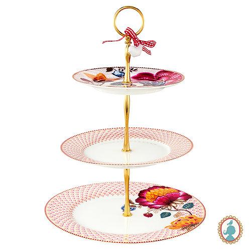 Prato p/ Doces Rosa/Branco – Floral Fantasy – PiP Studio®