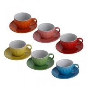 Jg xícaras de chá coloridas