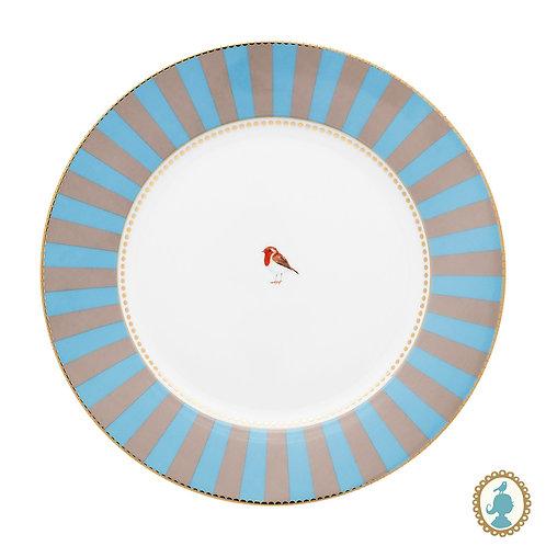 Prato de Jantar Azul Stripes - Love Birds - Pip Studio