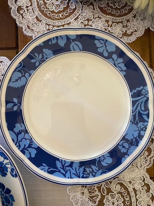 Prato sobremesa porcelana Royal Asian Blue