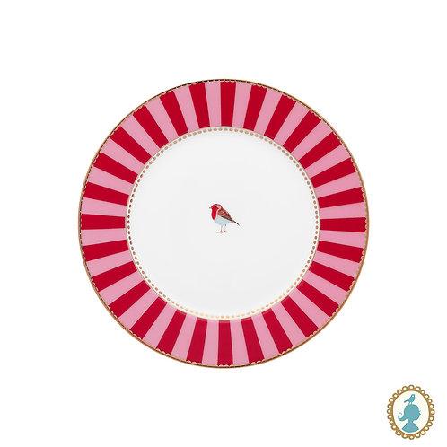 Prato de Pão Vermelho Stripes - Love Birds - Pip Studio
