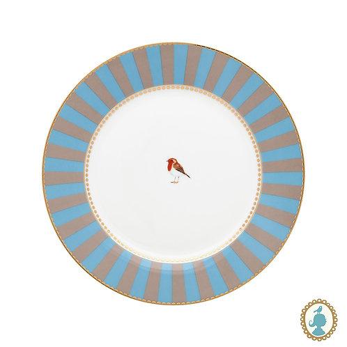 Prato de Sobremesa Azul Stripes - Love Birds - Pip Studio