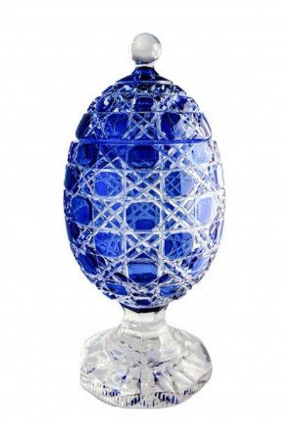 Ovo de Cristal Mozart Pequeno Azul Escuro