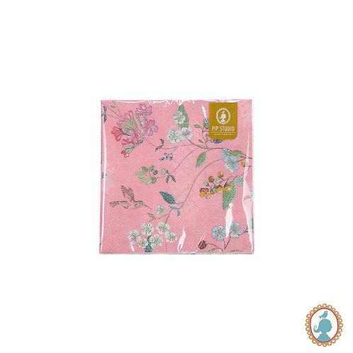 Guardanapo Hummingbirds Rosa 20 Unidades - Floral - Pip Studio