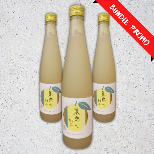 【Bundle Set】Karen na Yuzu Sake (500 ml)