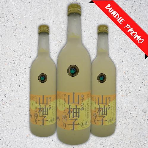 【Bundle Set】Tsukasabotan Yamayuzu Shibori Sake (720 ml)