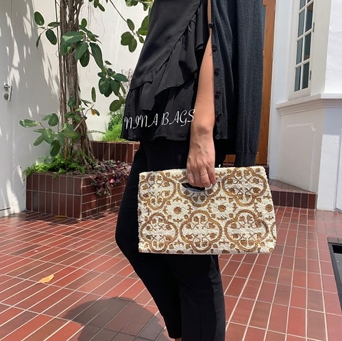 Peranakan Square Tote Bag (NINA)
